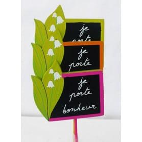 "Pic ""je porte bonheur"" 1er mai  D. 6 x H. 24,5 cm"
