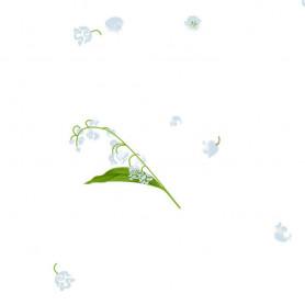 Polypro Parfum motif brin de muguet 25 x 30 cm