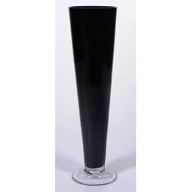 Vase conique haut en verre D. 12 x H. 78,5 cm