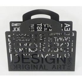 Porte revue design métal noir