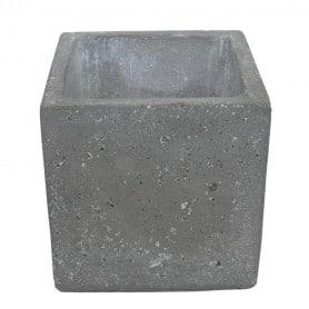Pot carré ciment Rock - Grossiste fleuriste