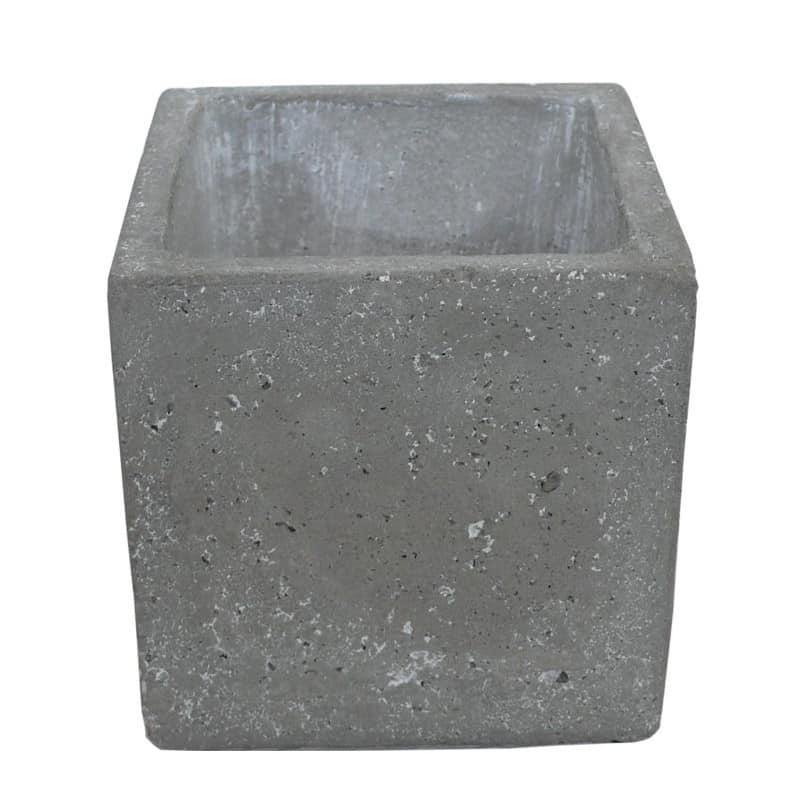 Pot carré ciment
