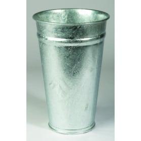 Vase zinc TD22 H28 BD 14 naturel