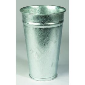 Vase zinc TD22 H49,5 BD16,5 naturel