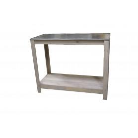 Table de présentation avec plateau zinc