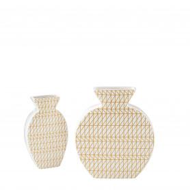 Vase or géométrique L. 20,5 x l. 4,5 x H. 23 cm