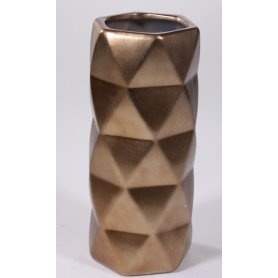 Vase géométrique céramique D. 12 x H. 28 cm