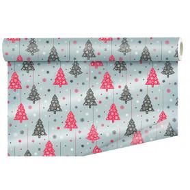 Papier imprimé sapin de Noël L. 40 M x l. 80 cm