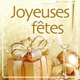 Etiquettes adhésives Joyeuses Fêtes