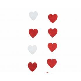 Guirlande cœurs assortis 100 cm