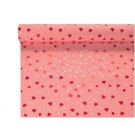"""Papier nacré rouge recto verso """"Francesca""""  80cm x 40M"""