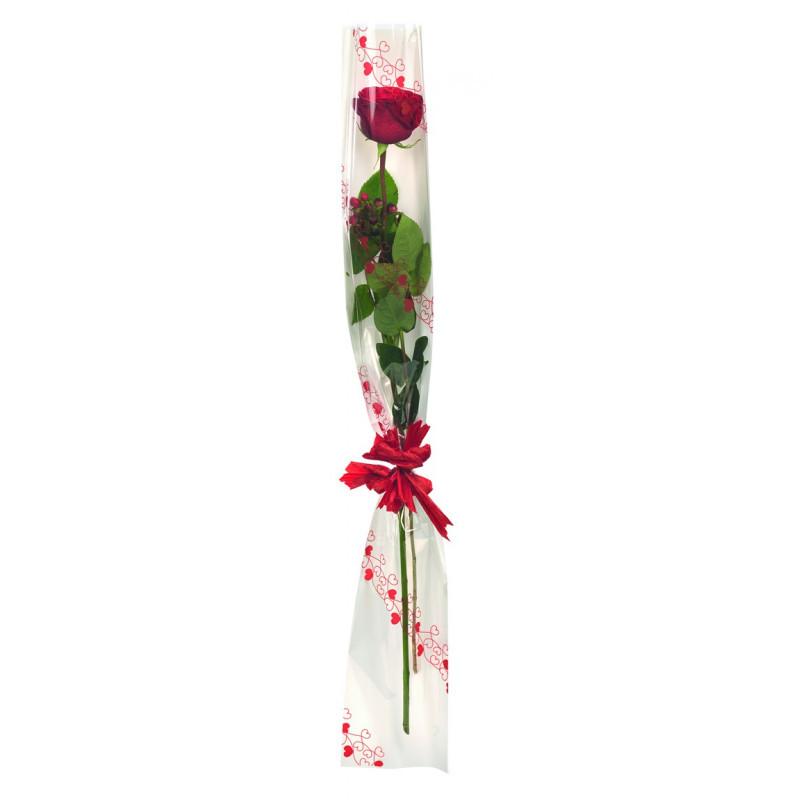 "Etui à rose nacré ""Valentine"" 16 x 100cm"
