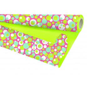"""Papier nacré Duo mat """"Colorfull""""  L. 25 m x l. 80 cm"""