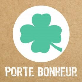 """Étiquette de circonstance effet kraft """"Porte Bonheur"""""""