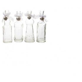 Bouteille en verre avec dentelle assortie