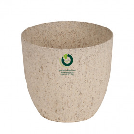 Pot rond « herbe » 100% compostable D. 13 x H. 12 cm