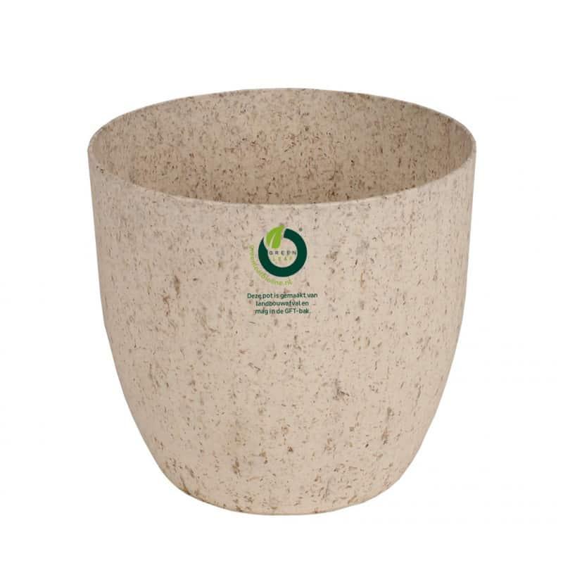 Pot rond « herbe » 100% compostable D. 13 x H. 12 cm