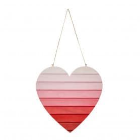 Cœur en bois dégradé à suspendre petit modèle