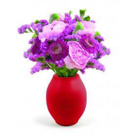 Vase Diabolo anti-renversement blanc D. 15 x H. 17,5 cm