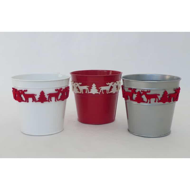 Pot carré zinc L.13,5 x l. L.13,5 x H 12 cm