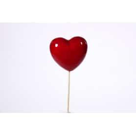 Cœurs sur pics L. 7 x l. 7 cm