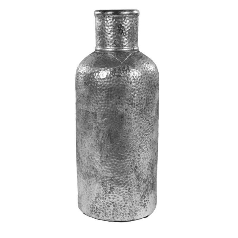 Bouteille effet métal martelé D. 14,5 x H. 35 cm