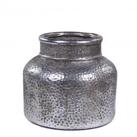 Vase effet métal martelé D. 18,5 x H. 17 cm