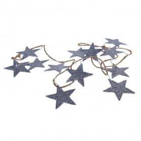Guirlande étoiles à paillettes argent