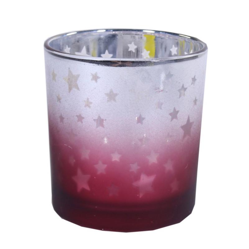 Photophore étoile dégradé rouge