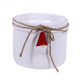 Pot rond céramique père Noël D. 14,2 x H. 11,3 cm