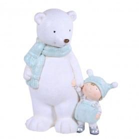 Personnages enfant avec ours polaire