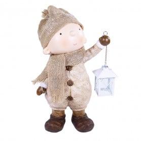 Enfant avec lanterne à poser