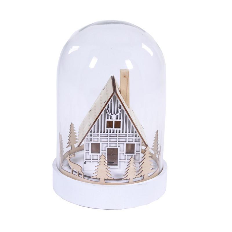Cloche LED maison Noël