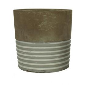 Pot rond ciment D. 10 x H.10 cm
