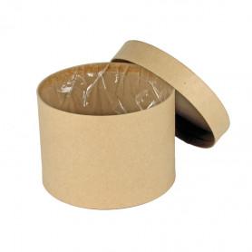 Boite à chapeau kraft D. 13 x H. 17 cm