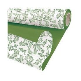 Papier nacré duo mat floral L. 25 m x l. 80 cm