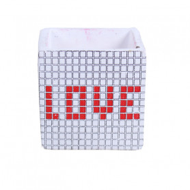 Cache pot cube  LOVE graphique