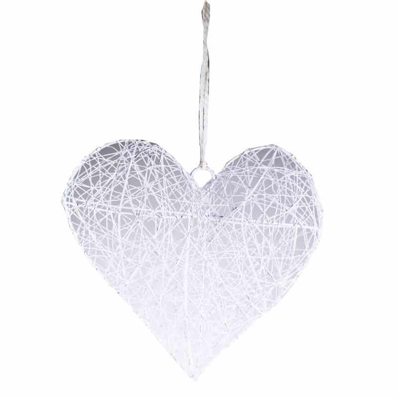 Coeur à suspendre métal blanc petit modèle