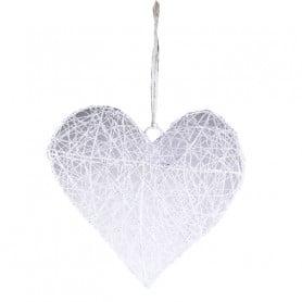 Coeur à suspendre métal blanc grand modèle