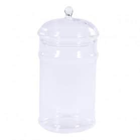Bonbonnière en verre avec couvercle