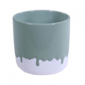 Cache pot en céramique rond effet peinture grand modèle
