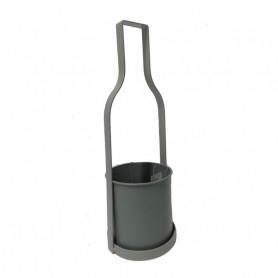 Cache pot original  zinc en forme de  bouteille