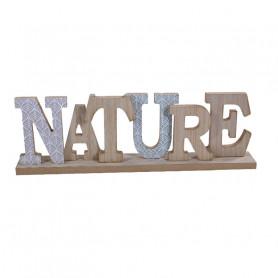 """Ecriture déco  """"Nature"""" en bois"""