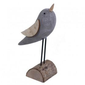 Oiseau décoratif et  son support en bois