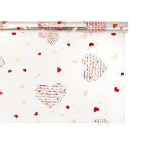Polypro imprimé HEART - Emballage fleuriste