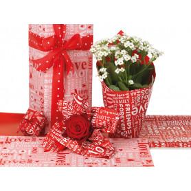 Papier imprimé forever - Emballage fleuriste