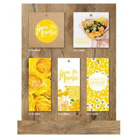 Présentoir carte fête grand-mère 60 cartes - accessoire boutique fleuriste