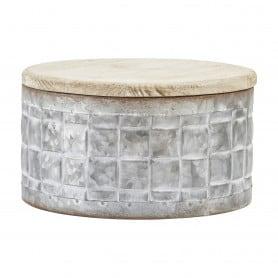 Boîte ronde zinc Cersei S - Décoration fleuriste