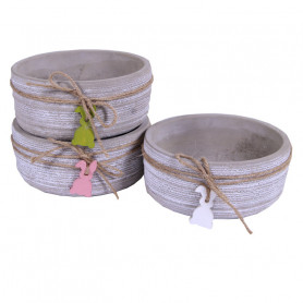 Coupe ronde céramique pampille lapin - Composition florale moderne