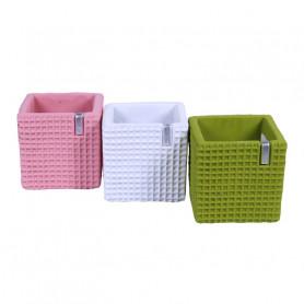 Cube céramique Elisa - Composition florale moderne